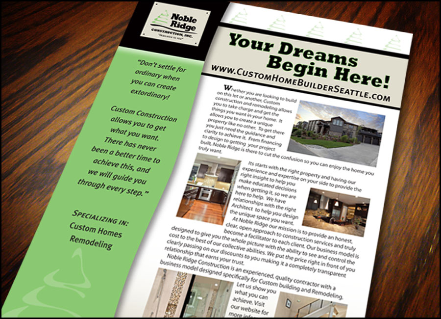 Noble Ridge Homes Flyer