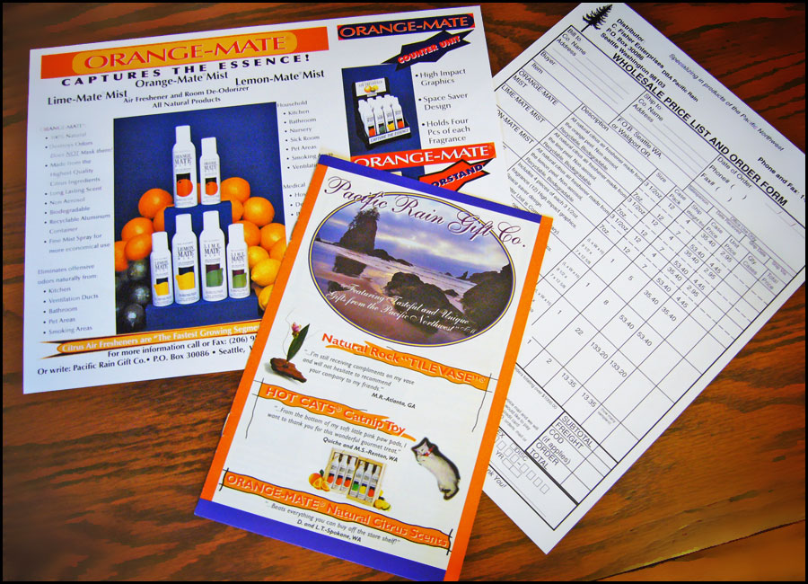 Pacific Rain Gift Company Marketing Materials